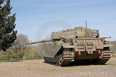 Merkava tank at the Golan Heights