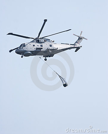Merlin Helicopter Lifting Cargo