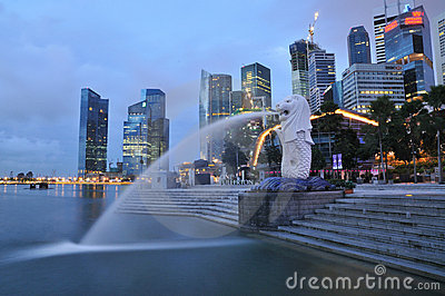 Merlion Park Editorial Photo