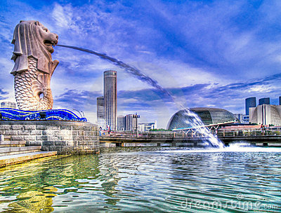 Merlion Park in the Morning
