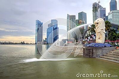 Merlion Park, Singapore Editorial Photo
