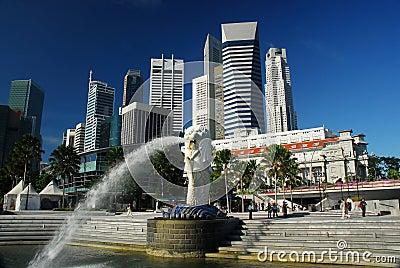 Merlion singapore daylight
