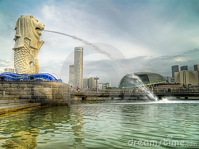 Merlion at Sunrise