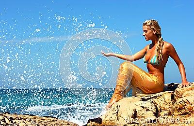 Mermaid at beach