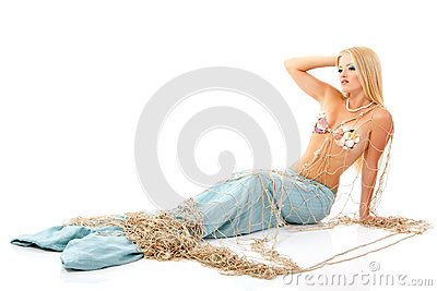 Mermaid beautiful magic mythology young woman