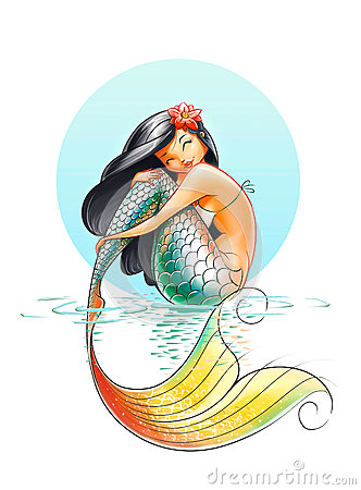 mermaid fairytale character royalty free stock images