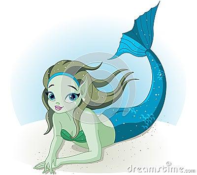 Mermaid Girl under the sea