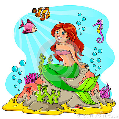 Mermaid and her friends