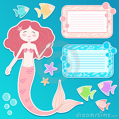 Mermaid icon set