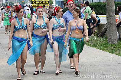 Mermaid Parade 2011 in Brooklyn Editorial Photography
