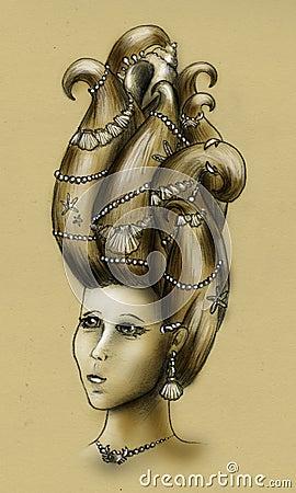 Mermaid queen - vintage