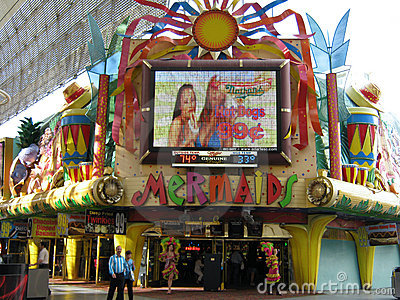 Mermaids Casino on Fremont Street Editorial Stock Photo