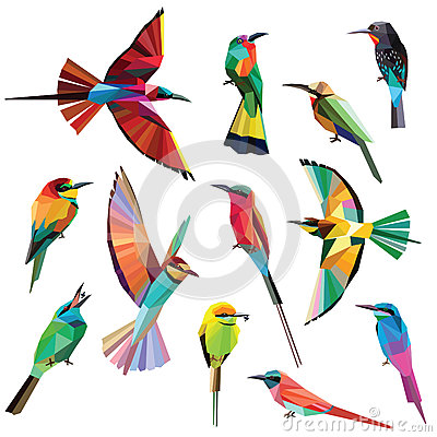Free Meropidae Birds Set Stock Photo - 58038210