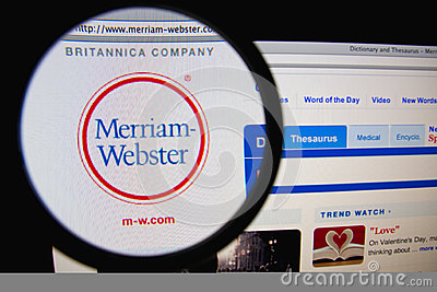 Merriam-Webster Editorial Photo