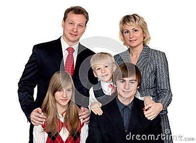 Merry big family portrait
