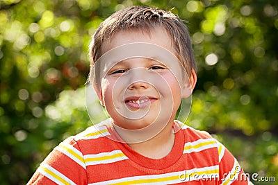 Merry brown-eyed boy