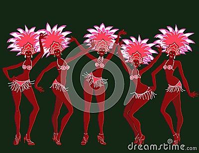 Merry carnival girls