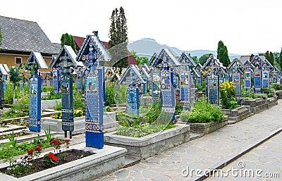 The merry cemetery,Sapanta, Maramures Editorial Photo