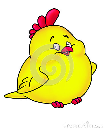Merry chicken yellow cartoon