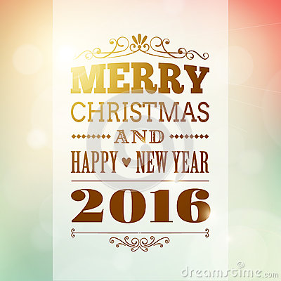 Free Merry Christmas And Happy New Year 2016 Background Stock Photography - 58802942