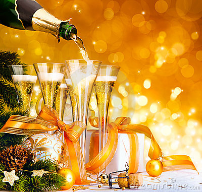 Free Merry Christmas And Happy New Year Royalty Free Stock Image - 22329836