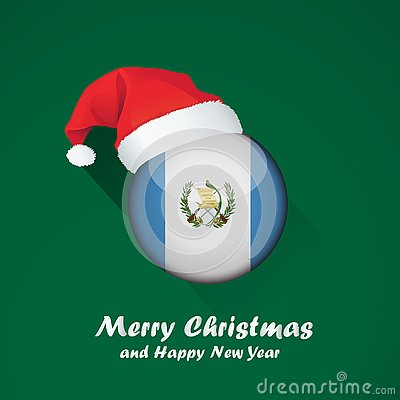 Free Merry Christmas And Happy New Year Background Design With Glossy Round Of Flag Royalty Free Stock Photography - 130726907