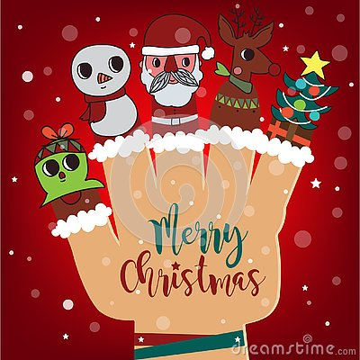 Free Merry Christmas And Happy New Year Background, Santa Claus And R Stock Image - 127979211