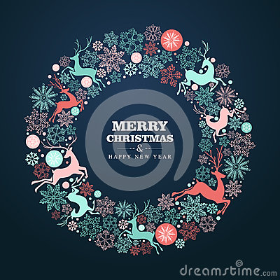 Free Merry Christmas And Happy New Year Greeting Card Royalty Free Stock Photos - 35584528