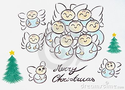 Merry Christmas Angels