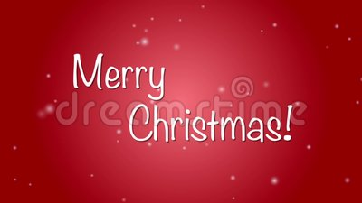 Merry Christmas!. Merry christmas animation with twirling snow on a red gradient background vector illustration