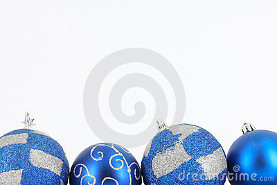Merry Christmas ball in blue decoration