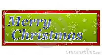 Merry Christmas Banner Or Logo Royalty Free Stock Photo - Image ...