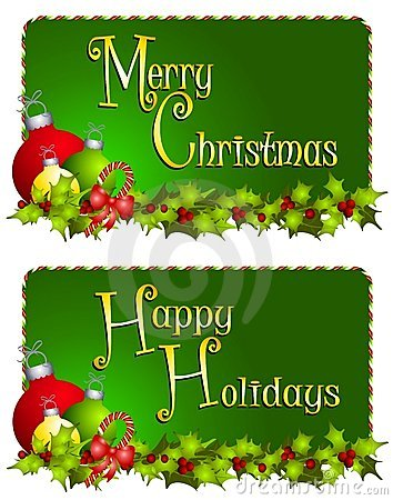 Free Merry Christmas Banners Royalty Free Stock Photography - 7247767