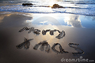 Merry christmas on the bech