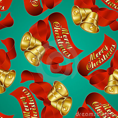 Merry Christmas Bells wrapping paper