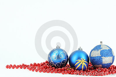 Merry christmas blue ball