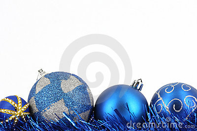 Merry christmas blue ball decoration