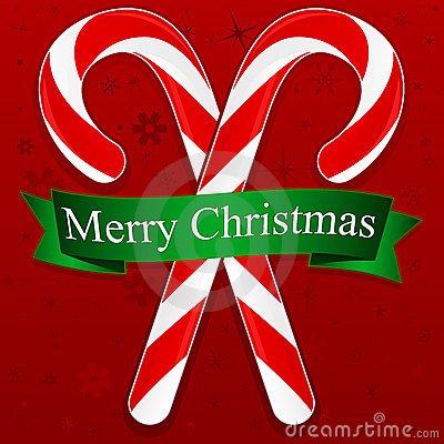Free Merry Christmas Candy Canes Royalty Free Stock Photos - 17149078