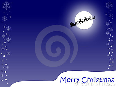 Merry Christmas Card [Blue]