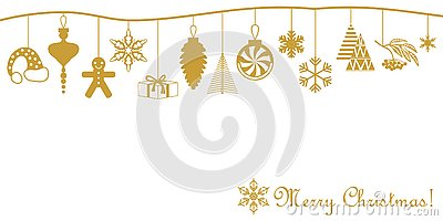Merry Christmas card. Vector Illustration