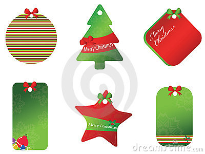 Merry christmas card set