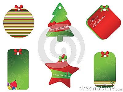 Merry christmas card set