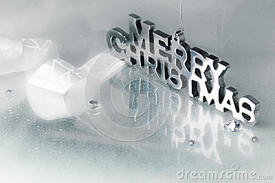 Merry Christmas in Chrome Letters