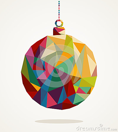 Free Merry Christmas Circle Bauble With Triangle Composition EPS10 File. Stock Image - 33820971