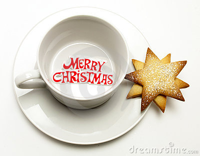 Merry Christmas Cup and Saucer