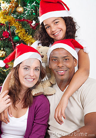 Free Merry Christmas Family Royalty Free Stock Photography - 16646277