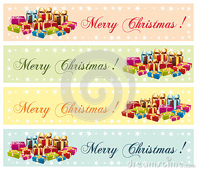 Merry Christmas ! Festive commercial banners.