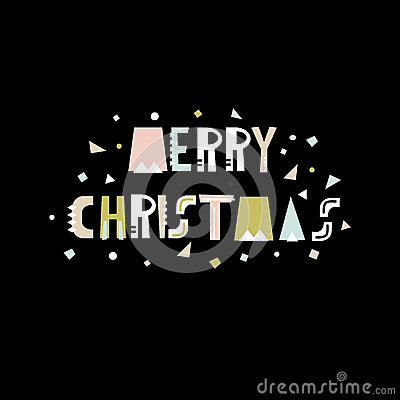 Merry Christmas greeting background. Holiday winter template, card, banner, poster. Vector Illustration. Vector Illustration