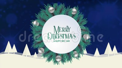 Merry christmas greeting card animation blue bokeh background trees merry christmas greeting card animation blue bokeh background trees snow stock footage video of season holiday 127889184 m4hsunfo