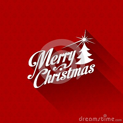 Merry Christmas greeting card vector design templa Vector Illustration